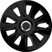 4-Delige Wieldoppenset Stratos RC Black 14 inch