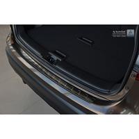 Zwart RVS Achterbumperprotector Nissan Qashqai II 2014-2017Ribs'