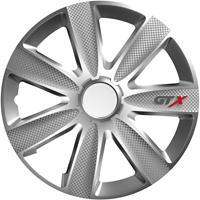 4-Delige Wieldoppenset GTX Carbon Silver 16 inch