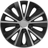 4-Delige Wieldoppenset Rapide Silver&Black 15 inch
