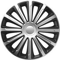 4-Delige Wieldoppenset Trend Silver&Black 15 inch