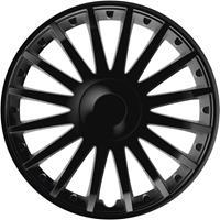 4-Delige Wieldoppenset Crystal Black 16 Inch