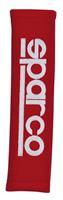Sparco gordelhoezen 28 x 6,5 cm alcantara rood 2 stuks