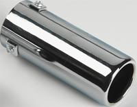 Uitlaatsierstuk Staal/Chroom - rond 70mm - lengte 170mm - 35-57mm aansluiting