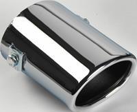 AutoStyle uitlaatsierstuk ovaal >55 mm 10,5 cm RVS chroom
