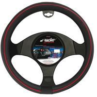 Simoni Racing Stuurwielhoes Speed - 37-39cm - Zwart/Rood