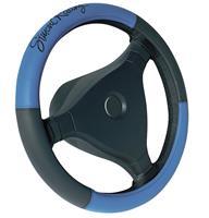 Simoni Racing Stuurwielhoes Trophy 1 - 37-39cm - Blauw/Zwart Eco-Leder