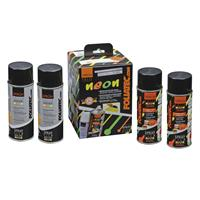 Foliatec Spray Film (Spuitfolie) NEON 4-delige Set - oranje 2x400ml + basislaag 2x400ml