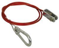 Carpoint breekkabel met gaffel en musketonhaak 120 cm rood