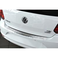 RVS Achterbumperprotector Volkswagen Polo 6C 2014-Ribs'