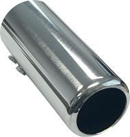 Uitlaatsierstuk Staal/Chroom - rond 60mm - lengte 150mm - 53-57mm aansluiting
