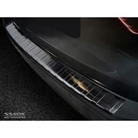 Zwart RVS Achterbumperprotector BMW 3-Serie G21 Touring M-Pakket 2018-