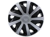 4-Delige Wieldoppenset Craft Silver/Black (Bolle Velgen) 15-inch