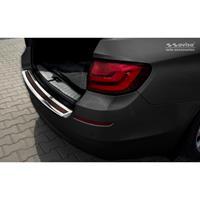 RVS AchterbumperprotectorDeluxe' BMW 5-Serie F11 Touring 2010-2016 Chroom/Rood-Zwart Carbon