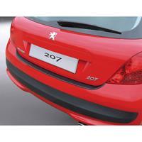 ABS Achterbumper beschermlijst Peugeot 207 HB 3 deurs Zwart