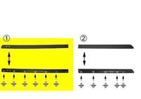 renault VOOR DEURSIERLIJST LINKS 1/94+ 4-deurs