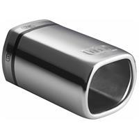 Ulter Sport uitlaatsierstuk rechthoek 40 55 mm 12 cm RVS zilver
