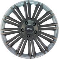 4-Delige J-Tec Wieldoppenset Discovery R 14-inch zilver/grijs