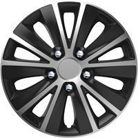 4-Delige Wieldoppenset Rapide NC Silver&Black 15 inch