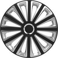 4-Delige Wieldoppenset Trend RC Black&Silver 15 inch
