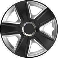 4-Delige Wieldoppenset Esprit RC Black&Silver 16 inch