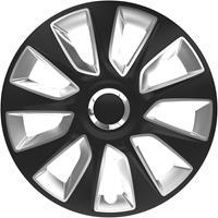 4-Delige Wieldoppenset Stratos RC Black&Silver 16 inch