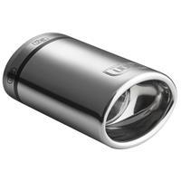 Ulter Sport uitlaatsierstuk ovaal 30 42 mm 12 cm RVS zilver