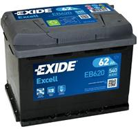 renault Exide Accu Excell EB620 62 Ah