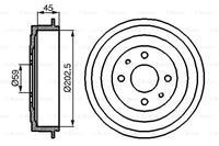 Bremstrommel | BOSCH (0 986 477 109)