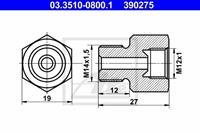 Adapter, Bremsleitung ATE 03.3510-0800.1