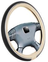 Simoni Racing Stuurwielhoes Trophy 6 - 37-39cm - Crème/Zwart Eco-Leder