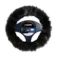Simoni Racing Stuurwielhoes Fluffy Fur - 37-39cm - Zwart