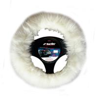 Simoni Racing Stuurwielhoes Fluffy Fur - 37-39cm - Wit