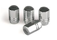 Simoni Racing Set ventielkapjes Exagonal - Chroom