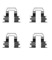 A.B.S. Zubehörsatz, Scheibenbremsbelag 1255Q  TOYOTA,COROLLA Liftback _E11_,COROLLA Compact _E11_,COROLLA Compact _E10_,CELICA ST20_, AT20_
