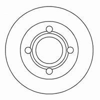 A.B.S. Bremsscheiben 16068 Scheibenbremsen,Bremsscheibe AUDI,100 44, 44Q, C3,100 Avant 44, 44Q, C3