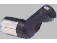 Uitlaatsierstuk RVS - rond 140mm - lengte 230mm - Diesel/TDi - 52-60mm aansluiting