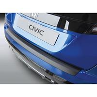 ABS Achterbumper beschermlijst Honda Civic HB 5 deurs 2015-2017 Zwart