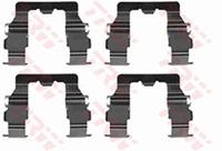 TRW Zubehörsatz, Scheibenbremsbelag PFK239  HONDA,CRX II ED, EE,PRELUDE III BA,ACCORD III CA,ACCORD III Aerodeck CA,INTEGRA DA,ACCORD III Coupe