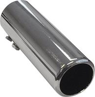 AutoStyle uitlaatsierstuk rond 44 47 mm 15 cm RVS chroom