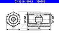 Adapter, Bremsleitung ATE 03.3511-1000.1