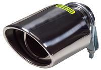 AutoStyle uitlaatsierstuk ovaal 45 64 mm 18 cm RVS chroom