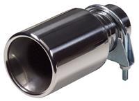 Uitlaatsierstuk RVS - rond 89mm - lengte 178mm - 40-58mm aansluiting