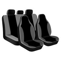 AutoStyle stoelhoezenset Street Racer High uni zw/gr 9 delig