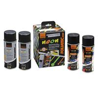 Foliatec Spray Film (Spuitfolie) NEON 4-delige Set - blauw 2x400ml + basislaag 2x400ml