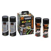 Foliatec Spray Film (Spuitfolie) NEON 4-delige Set - rood 2x400ml + basislaag 2x400ml