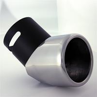 AutoStyle uitlaatsierstuk rond 50 70 mm 9 cm RVS chroom