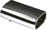 Uitlaatsierstuk RVS - rechthoekig 76x135mm - lengte 210mm - 50-60mm aansluiting