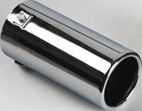 AutoStyle uitlaatsierstuk rond 40 77 mm 17 cm RVS chroom