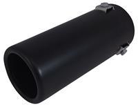 AutoStyle uitlaatsierstuk rond 35 66 mm 17 cm staal zwart